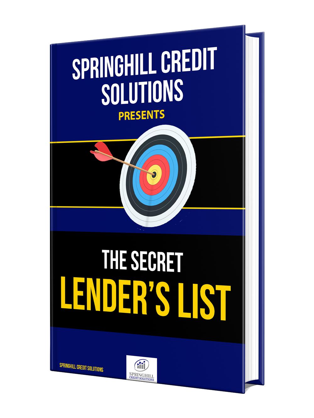 Secret Lender's List eBook